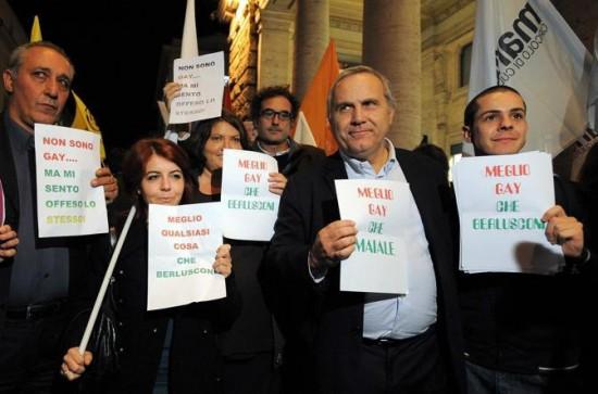 roma manifestazione gay lesbiche palazzo chigi