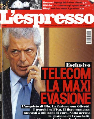 copertina espresso caso telecom fastweb