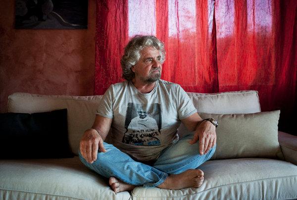 beppe grillo fotografato da gianni cipriano